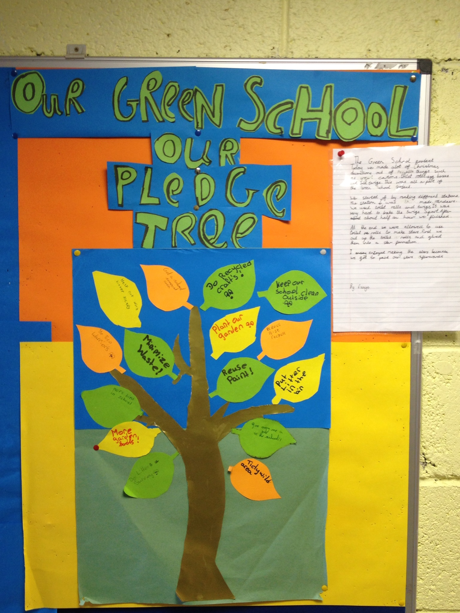 Green School Noticeboard